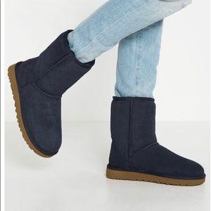 Navy Classic Ugg Short Boot